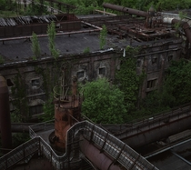 I love how nature grows back in the untouched part of the abandoned steel factory Vlklinger Htte Germany