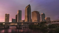 I love how the sun shines off downtown Tampa at dusk