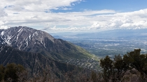 I love living in the mountains The view of Salt Lake City from Grandeur Peak Wasatch Mountains Utah