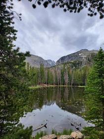 I love natures framing  Rocky Mountain National Park Dream Lake x
