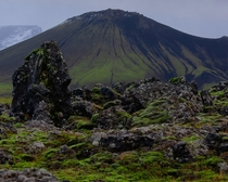 I love the alluvial pattern on this mountain in Iceland