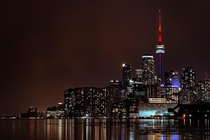 I love this city Toronto shot from polson pier on the first night of spring