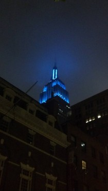 I love when the Empire State Building lights up in solid colors - Shreve Lamb and Harmon more in comments