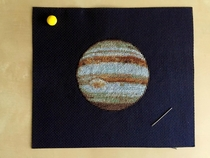 I made a Jupiter cross-stitch