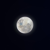 I made a  megapixel shot of this weeks SuperMoon from k stacked images Uncompressed version linked in the comments