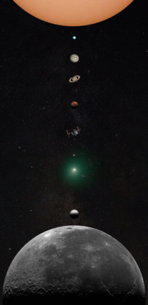 I made a phone wallpaper using every solar system target I photographed in