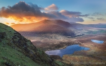 I managed to race up the mountain after work just in time for an awesome sunset from Conor Pass Co Kerry Ireland