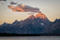 I managed to wake my lazy self up in time for this grand sunrise on Grand Teton