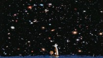 I mixed Calvin and Hobbes and the Hubble Deep Field  xpost rpics bc maybe this is a better place