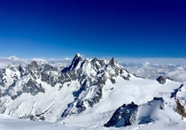 I never knew there was so much blue in the world taken at Aiguille du Midi  metres above sea level