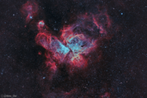I photographed The Great Carina Nebula from my backyard It is the largest and one of the brightest star forming regions in our night sky