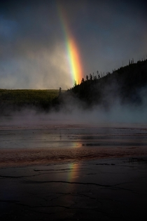 I planned to photograph the sunset in Yellowstone but a storm rolled through and I saw this incredible moment instead