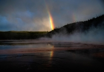I planned to photograph the sunset in Yellowstone but saw this incredible rainbow instead