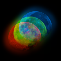 I pointed my telescope at the moon and intentionally misaligned the RGB channels to create this stunning composite image