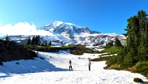 I really miss Washington Here is Mt Rainier from my  month stay earlier this year