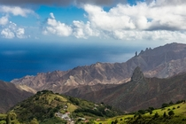 I recently visited the tiny isolated volcanic island of Saint Helena in the middle of the Atlantic Ocean This was the view from the Southern side of the island OC