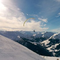 I saw a Flying parapente at saalbach hinterglemm