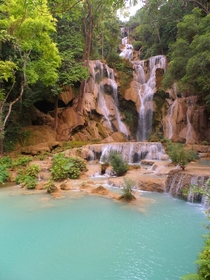I saw this beautiful waterfall during my time in Luang Prabang Loas