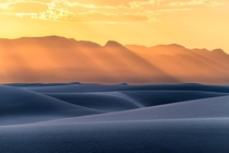 I saw this unbelievable evening light over the dunes of White Sands NM