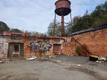 I see that water tower from the road every day so I decided to go check it out Abandonded warehouses