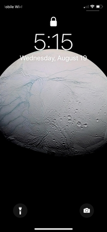 I see your Mimas and I raise with Enceladus another moon of Saturn but with liquid water and the possibility of life underneath its icy surface