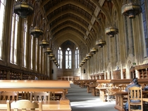 I see your University of Michigan and raise you with Suzzallo Library University of Washington