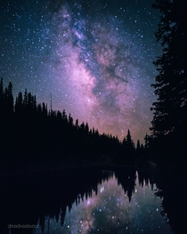 I shot the Milky Way over Rocky Mountain National Park