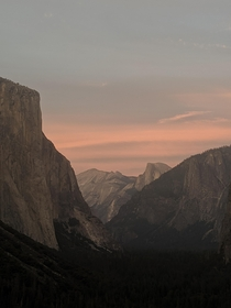 I shot this yesterday from Tunnel View Yosemite National Park Not able get over this sunset colors