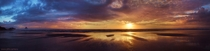 I slept on the beach up in Oregon one night last fall this is a super high-res pano of one of the most breathtaking sunsets Ive ever witnessed