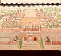 I spent more than  hours to complete this project howbeit I am not really good at drawing So if there are any mistakes please let me know  This picture is The Forbidden City