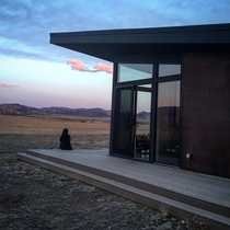 I stayed at this modern air bnb with killer views in Fort Collins Colorado