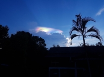 I stumbled upon an iredescent cloud Captured in Malaysia
