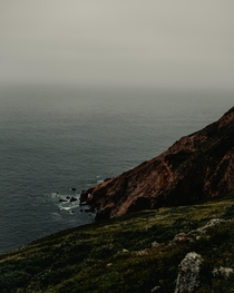 I thought the little hole at the bottom of this cliff was kinda cool taken at Point Reyes