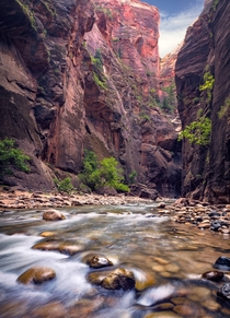 I too walked miles in a river to experience the beauty of Zion National Park Utah