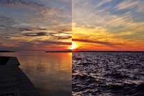I took a couple pictures  hours apart in the Pamlico Sound NC