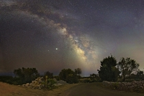 I took a panoramic photo of the Milky Way at  megapixels