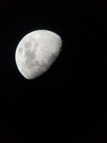 I took a picture of the moon through a telescope