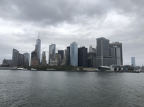 I took a picture of the New York skyline from the Staten Island ferry
