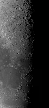 I took  images to create this  panel Mosaic of the Terminator Line of the Moon