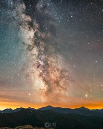 I took one tracked and one untracked exposure of the Milky Way and combined them to bring out an extreme amount of detail - Adirondacks NY