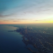 I took this as I flew into Chicago yesterday