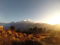 I took this awesome photo on my GoPro while trekking to Annapurna in Nepal I know nothing about photography