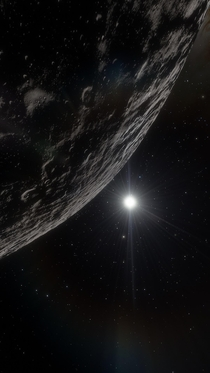 I took this  myself in Space Engine It features Eris
