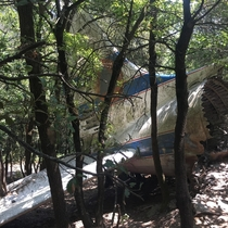 I took this picture a year ago in Spain This plane crashed somewhere around  into a mountain  french pilots died They were extinguishing a fire on that very same mountain