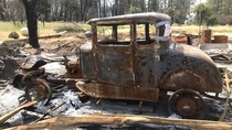 I took this picture last year of whats left of a classic car from the Paradise California fire a couple years ago Very sad