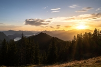 I took this sunrise picture just m away from my tent during a backpacking trip in the Swiss Alps Mount Jnzi Switzerland