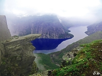 I took this yesterday while hiking to Trolltunga Norway