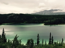 I visited Alaska and Canada over the summer I drove for hours through Skagway and BC in the pouring rain but I think this picture of the Emerald Lake made it all worth it