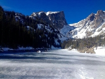 I visited Dream Lake CO yesterday The lake is frozen over now and still very beautiful