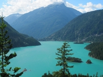 I visited my sister in Washington She told me the lakes were beautiful but I wasnt expecting this Diablo Lake WA